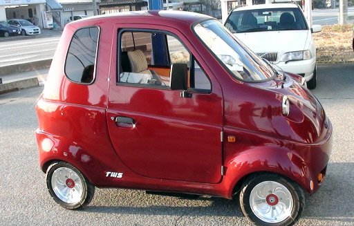Minicar The Japanese Electric Car With One Door The Green