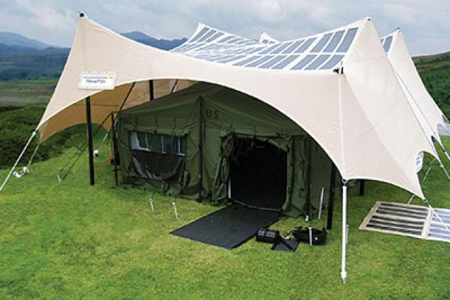 The ... & US Armyu0027s Solar Powered Portable Tents and Shades Offering Petrol ...