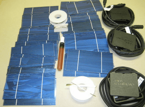 Solar panel system how to build a cheap one the green for How to build a solar panel for kids