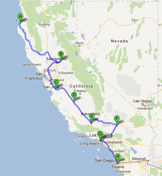 Tesla's Supercharger Network Location and Road Trip Map