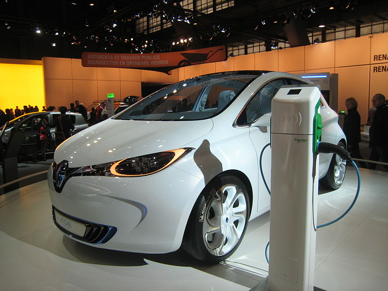 Plug-In Vehicle at a Charging Station