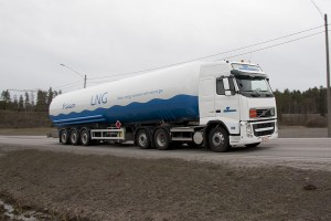 Truck Transporting LNG - Expect to See More of These Soon