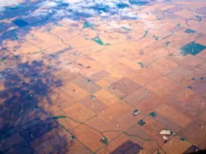 Aerial Shot Flying Over Fields in the Midwest