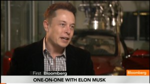 Tesla Motors CEO Elon Musk in Bloomberg TV Interview