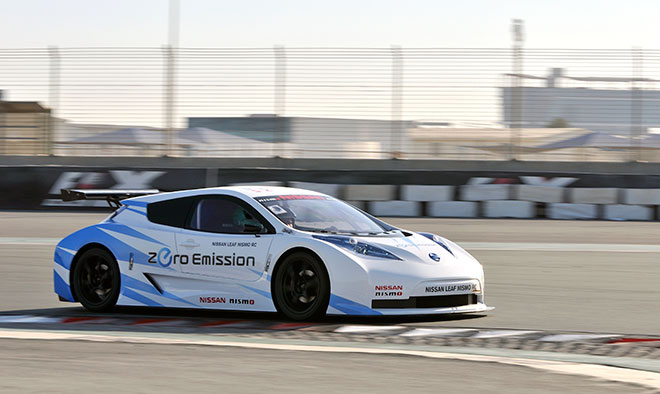 Race-Modified Nissan Leaf COuld be the Basis for a 2014 LeMans Electric Race Car