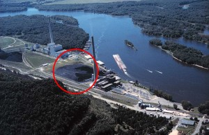 Coal Plant with Ash Deposit Highlighted - A Good Source of Hydrogen Gas?