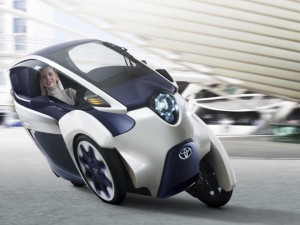 Toyota i-Road Concept Shown at the Geneva Motor Show