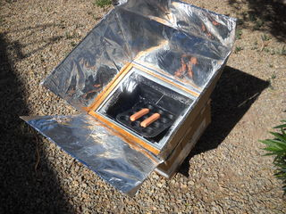 investigatory solar cooker and shoe carton A solar cooker is a device which uses the energy of direct sunlight to heat, cook or pasteurise drink and other food materials many solar cookers currently in use .