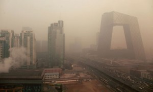 Air pollution in Beijing China :