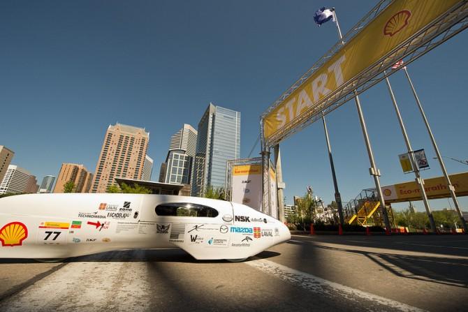 Super Fuel Efficient Vehicle gets 3,587mpg!