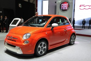 Fiat 500e is an All-Electric Version of the Popular Fiat 500 Series, so Far Only Available In California