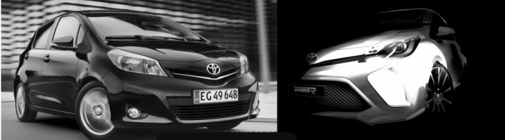 2012 Toyota Yaris vs Toyota Hybrid-R Concept