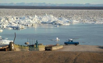 Climate Change Leading to Earlier Ice Breakup on Mackenzie River (and the Polar Ice Caps?)