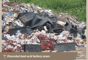 Discarded-lead-acid-battery