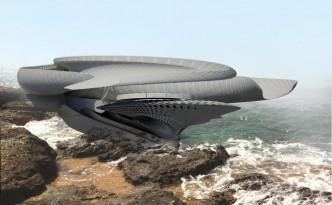 Tide powered house - image from Margot Krasojevics