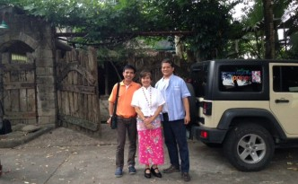 Bale Dutung restaurant of Claude (Right) and Mary Ann Tayag (Middle) made of recycled materials