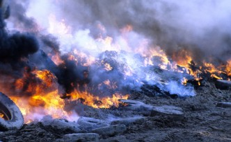 Burning tires – That's totally renewable energy, right?