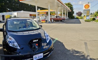 Electric Vehicle Charging Station on California's West Coast Electric Highway