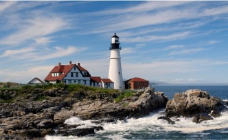 Sea level rise means this Portland, Maine, lighthouse is too close to the water.