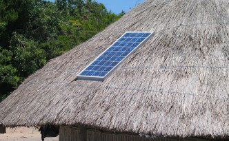 solar-panel-on-thatch-hut