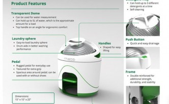 'Drumi', a pedal-powered portable washer-dryer