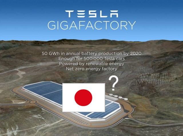 Tesla gigafactory plans in Japan