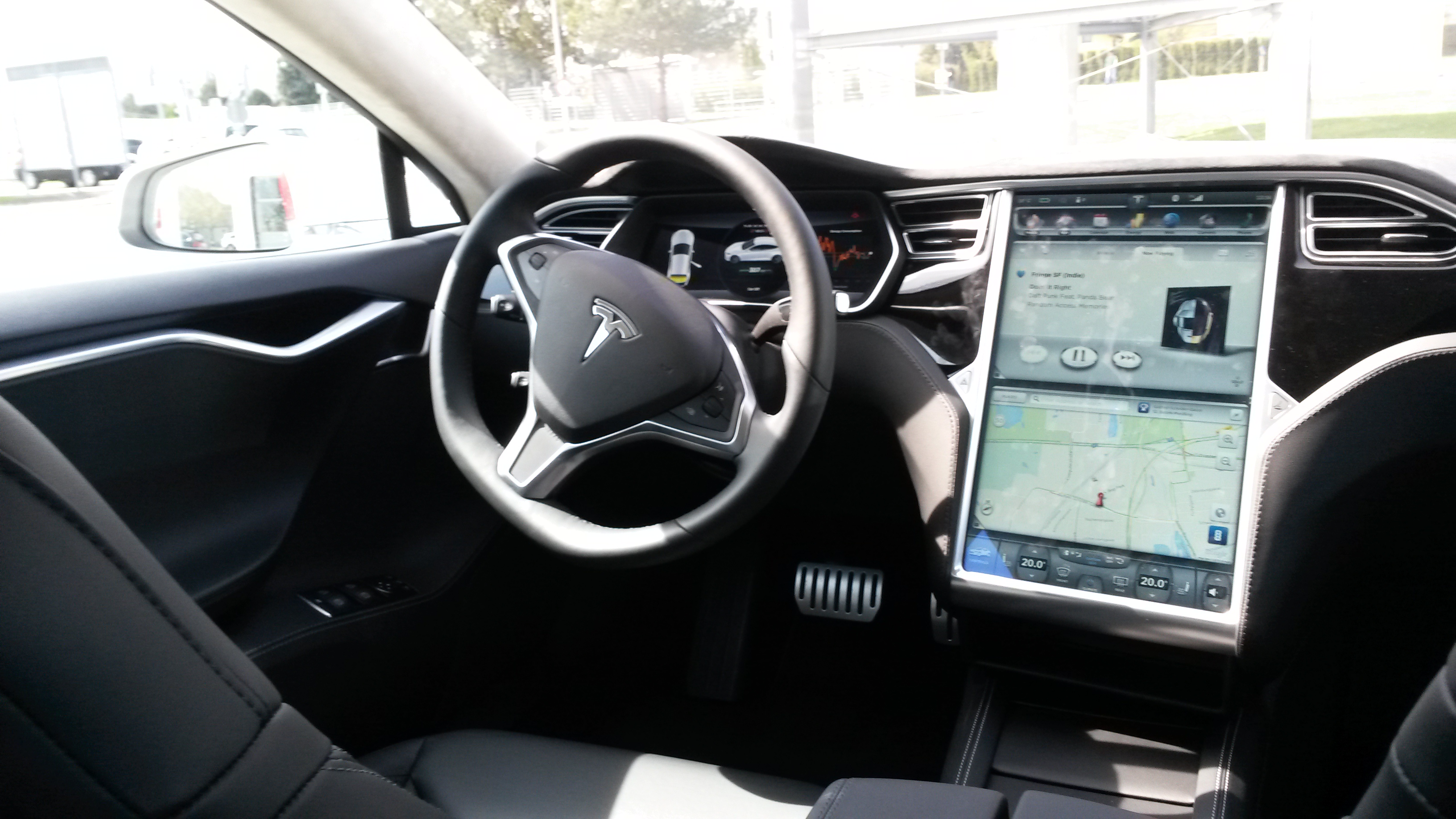 Tesla p85d test drive for Interior tesla model s