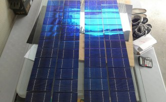 Solar cell manufacture