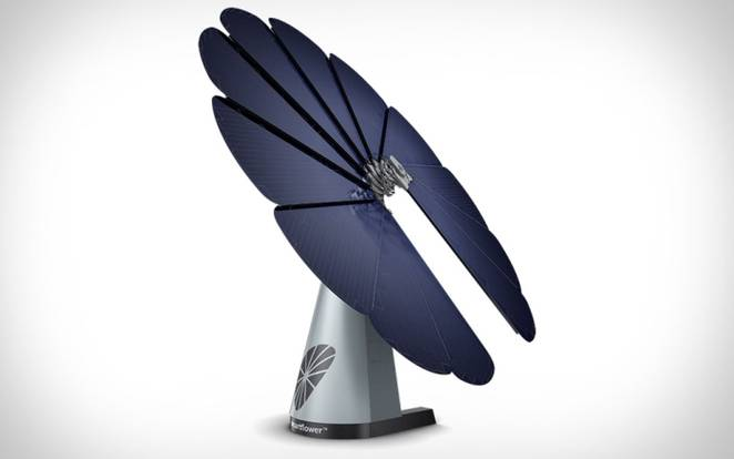 Smartflower Super Efficient Folding Solar Panel That