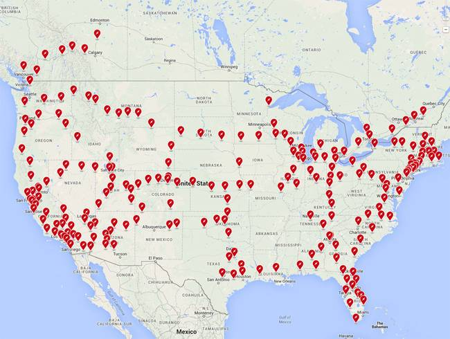 New Charging Station Map Displays Teslas Success The Green Optimistic