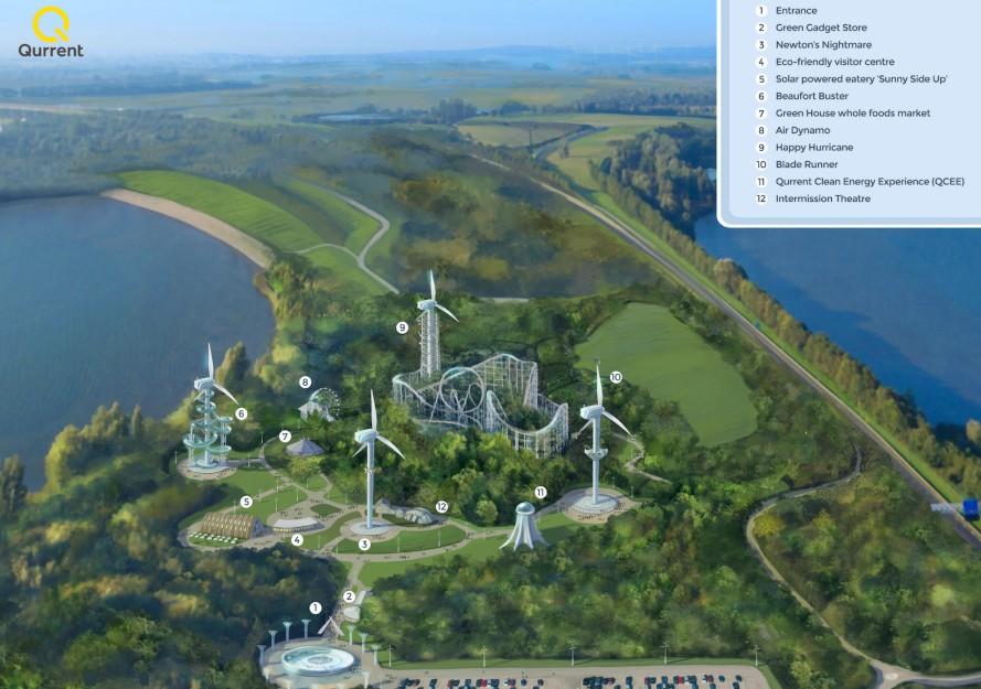 World S First Wind Turbine Theme Park Is Dutch The Green