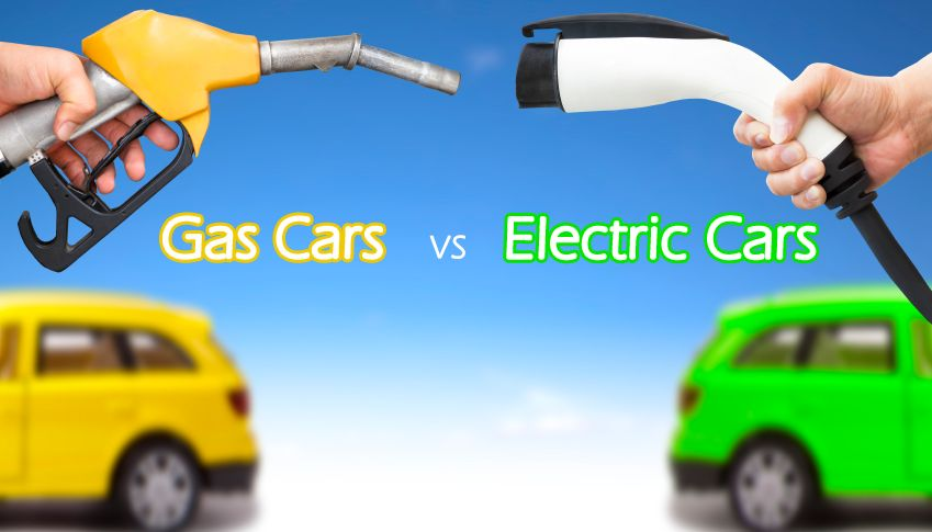 Gas Powered Car Vs Electric Car