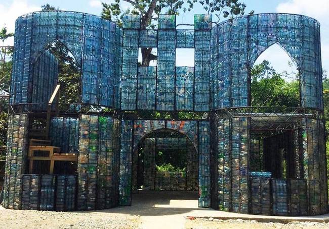 Used Plastic Bottles Turn into Energy Efficient Housing - The Green